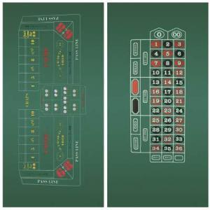 Craps & Roulette 2-Sided Casino Felt Layout好評販売中|lakibox28