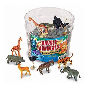 Learning Resources Jungle Animal Counters, Educational Counting and Sorting Toy, Plastic Animal Figurines, Jungle Animals, Set of 60, Ages 5|lakibox28