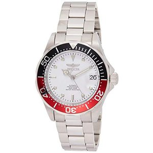 Invicta Men's Pro Diver 40mm Stainless Steel Automatic Watch, Silver/White (Model: 9404)【並行輸入品】 lakibox28