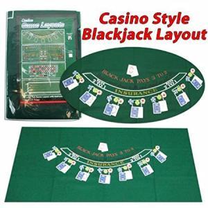 Trademark Poker 405694 Blackjack Layout, 36 x 72 Inch好評販売中|lakibox28