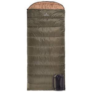 TETON Sports Celsius XXL Sleeping Bag; Great for Family Camping; Free Compression Sack, Olive Green, Model:100R【並行輸入品】|lakibox28