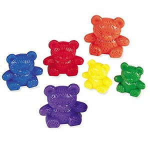 Learning Resources Three Bear Family Counters, Educational Counting and Sorting Toy, Rainbow, Autism Therapy Tool, Size Awareness, Set of 96|lakibox28