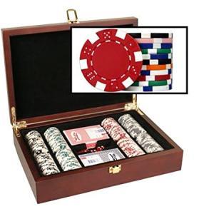 DA VINCI Mahogany Wood Poker Chip Set with 200 11.5 Gram Chips好評販売中|lakibox28