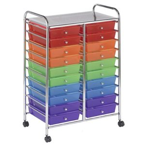 ECR4Kids-ELR-011 20 Drawer Mobile Organizer, Assorted Colors【並行輸入品】|lakibox28
