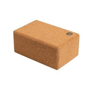 Manduka Cork Yoga Block, Resilient Material, Portable Fit & Easy to Grip, Comfortable Contoured Edges, 9 x 6 x 4 in【並行輸入品】 lakibox28