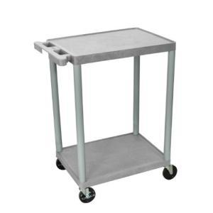 LUXOR HE32-G Multipurpose Utility Cart, 2 Shelves, 200 lb, Gray【並行輸入品】|lakibox28