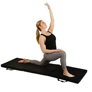 Sunny Health & Fitness Folding Gymnastics Tumbling Mat - Extra Thick with Carry Handles - for Exercise, Yoga, Fitness, Aerobics, Martial Art lakibox28