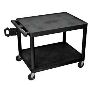 LUXOR LE27-B Audio and Video Utility Cart, 2 Shelves, Black【並行輸入品】|lakibox28