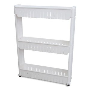 Ideaworks Slide Out Storage Tower White, 3-Tier【並行輸入品】|lakibox28