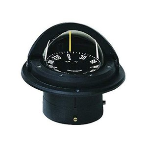 Ritchie Voyager Compass Flat-Card Dial with Flush Mount and 12V Green Night Light (Black, 3-Inch)【並行輸入品】|lakibox28