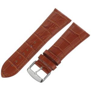 Hadley-Roma Men's MSM898RR-220 22mm Tan Alligator Grain Leather Watch Strap【並行輸入品】 lakibox28