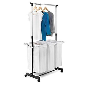 Honey-Can-Do Rolling Laundry Cart with Hanging Bar【並行輸入品】|lakibox28
