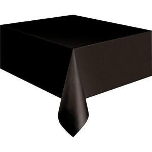 "Unique Industries 5096 Midnight Black Plastic Tablecloth, 108"" x 54"",Multicolor【並行輸入品】|lakibox28"