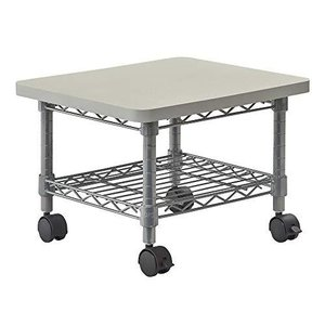 Safco Products Under Desk Printer/Fax Stand , Gray Powder Coat Finish, Swivel Wheels for Mobility【並行輸入品】|lakibox28