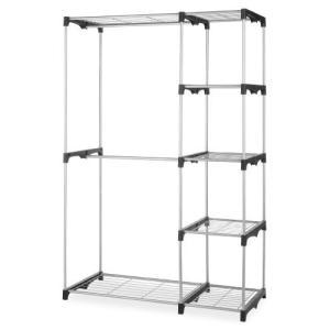 Whitmor Double Rod Freestanding Closet Heavy Duty Storage Organizer【並行輸入品】|lakibox28
