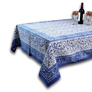 "Homestead Rajasthan Block Print Tablecloth-60 x 90"" Rectangle【並行輸入品】|lakibox28"