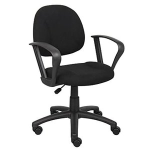 Boss Office Products Perfect Posture Delux Fabric Task Chair with Loop Arms好評販売中|lakibox28
