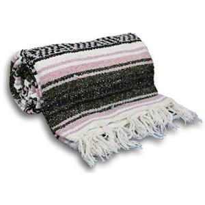 YogaAccessories Traditional Mexican Yoga Blanket - Pink【並行輸入品】 lakibox28