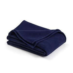 The Original Vellux Blanket - Full/Queen, Soft, Warm, Insulated, Pet-Friendly, Home Bed & Sofa - Navy【並行輸入品】|lakibox28