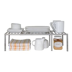Seville Classics Iron Slat Expandable Kitchen Counter and Cabinet Shelf, Pl好評販売中|lakibox28