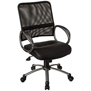 Boss Office Products Mesh Back Task Chair with Pewter Finish in Black好評販売中|lakibox28