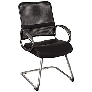 Boss Office Products Mesh Back Guest Chair with Pewter Finish in Black, 250好評販売中|lakibox28