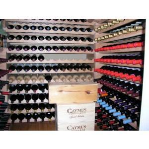 Wine Rack Wood -40 Bottles Modular Hardwood Wine Racks (10 bottles x 4 shelves)【並行輸入品】|lakibox28