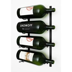 Large Format Bottle Metal Hanging Wall Mounted Wine Rack (Black)【並行輸入品】|lakibox28