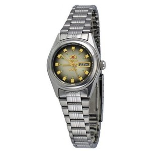Orient FNQ1X003X Women's 3 Star Stainless Steel Brown Dial Day Date Automatic WatcX【並行輸入品】 lakibox28