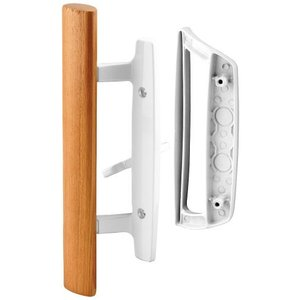 Prime-Line C 1204 Sliding Glass Door Handle Set ? Replace Old or Damaged Door Handles Quickly and Easily ? White Diecast, Mortise/Hook S|lakibox28