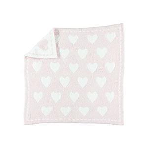 Barefoot Dreams CozyChic Dream Receiving Blanket - Pink/White Hearts好評販売中|lakibox28
