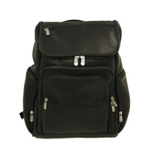 Piel Leather Multi-Pocket Laptop Backpack, Black, One Size【並行輸入品】|lakibox28