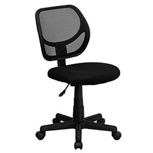 Flash Furniture Low Back Black Mesh Swivel Task Office Chair with Curved Sq好評販売中|lakibox28