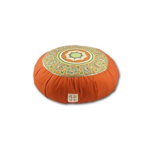 Relaxso Zafu Statics Meditation Cushion, Toile Orange【並行輸入品】 lakibox28