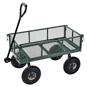 "Sandusky Lee CW3418 Muscle Carts Steel Utility Garden Wagon, 400 lb. Load Capacity, 21-3/4"" Height x 34"" Length x 18"" Width【並行輸入|lakibox28"