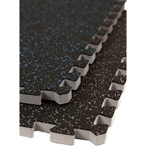 """IncStores 3/4"""" Soft Rubber Interlocking Gym Flooring Tiles - Perfect Mats For Home Gyms, Insanity, P90X, Cardio and More【並行輸入品