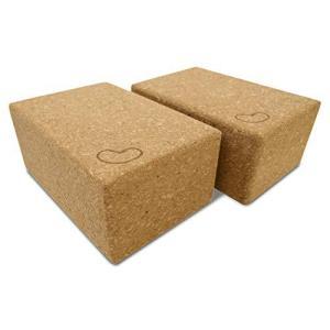 Bean Products Yoga Blocks - 2 Pack, Cork, Standard【並行輸入品】 lakibox28