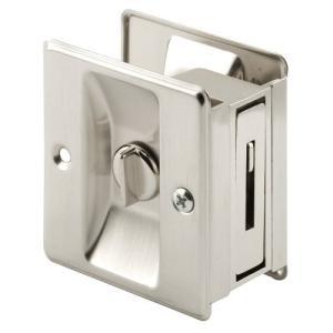 Prime-Line N 7239 Pocket Door Privacy Lock, 1 Pack, Satin Nickel【並行輸入品】|lakibox28