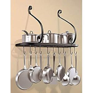 Vdomus wall mount pot pan rack, kitchen cookware storage organizer, 24 by 1好評販売中|lakibox28