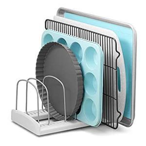 YouCopia Bakeware Storemore Adjustable Rack, Standard, White好評販売中|lakibox28