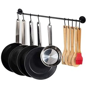 Fasthomegoods Steel Gourmet Kitchen 24 Inch Wall Rail and 10 S Hooks Utensi好評販売中|lakibox28