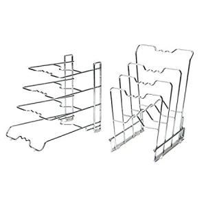 Seville Classics 4-Tier Pan & Pot Lid Rack Kitchen Counter and Cabinet Orga好評販売中|lakibox28