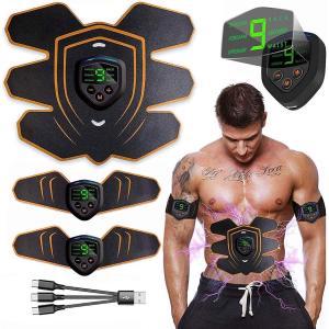 EMS 腹筋 腹筋ベルト EMS腹筋ベルト 筋肉トナー ダイエット 超薄 静音 自動的 6種類モード 10段階強度 ボディフィット 筋トレ 充電式|lakko