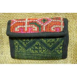 モン族 三つ折財布A 個性的財布 民族 小銭入れ アジアン エスニック 刺繍財布 小さい財布 lakshmi2011