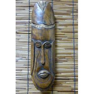 壁掛け 木彫り アフリカンマスク エスニック飾り 木雑貨 ウッド飾り アフリカン雑貨 木彫り面 レターパック対応|lakshmi2011