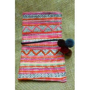 モン族 ポーチB 小物入れ コスメケース ペンシルケース 民族 かわいい小物入れ メイクポーチ メイクポーチ薄型 lakshmi2011