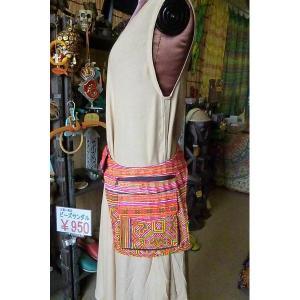 モン族 ウェストバッグ 刺繍バッグ 個性的バッグ 民族 アジアン エスニックバッグ 野外フェス アウトドア レディースバッグ lakshmi2011