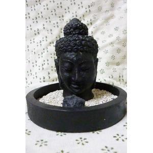 ブッダヘッド香立て 神様お香立て 仏陀置物 ブッダ顔オブジェ ブッダ置物 神様雑貨|lakshmi2011