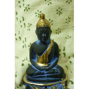 ブッダ香立て ブルー 神様お香立て 仏陀雑貨 神様雑貨 個性的お香たて|lakshmi2011