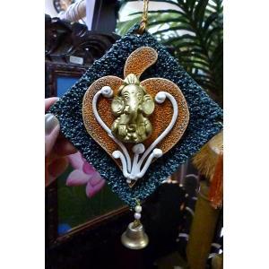 ガネーシャ掛け飾り 商売繁盛 学問の神様 インドの神様 ゾウさん雑貨 神様雑貨 開運 レターパック対応|lakshmi2011
